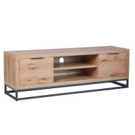 See more information about the Industrial Chic Oak & Steel 2 Door TV Unit
