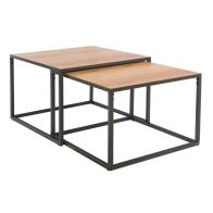 See more information about the Industrial Chic Oak & Steel Square Coffee Table