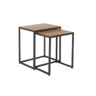See more information about the Industrial Chic Oak & Steel 2 Nest Of Tables