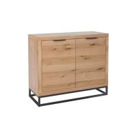 See more information about the Industrial Chic Oak & Steel 2 Door Sideboard