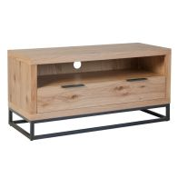 See more information about the Industrial Chic Oak & Steel 1 Drawer TV Unit