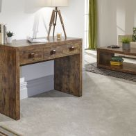 See more information about the Jakarta Console Table Brown 3 Drawer