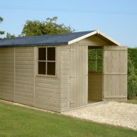 See more information about the Shire Jersey Shiplap Pressure Treated Shed (13' x 7')