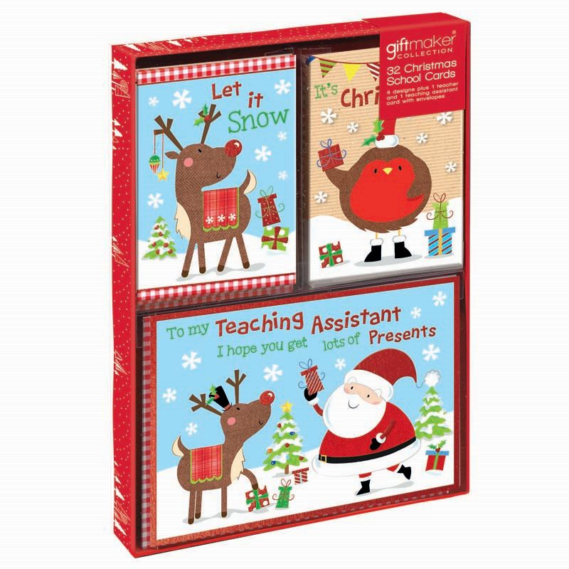 Buy Christmas Cards Cute 32 Pack - Online at Cherry Lane