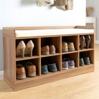 See more information about the Kempton Walnut Finish Shoe Storage Bench