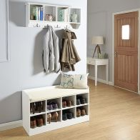See more information about the Kempton White Shoe Storage Bench