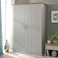See more information about the Kendal Wardrobe Grey & Oak 3 Door 3 Drawer