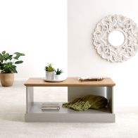 See more information about the Kendal Coffee Table Grey & Oak 1 Shelf