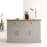 See more information about the Kendal Sideboard Grey & Oak 3 Door 4 Shelf 2 Drawer