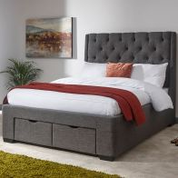 See more information about the Koln Grey Fabric 2 Drawer Storage Kingsize 5ft Bedstead