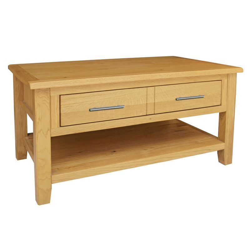 Buy Kansas Waxed Oak Coffee Table Online At Cherry Lane