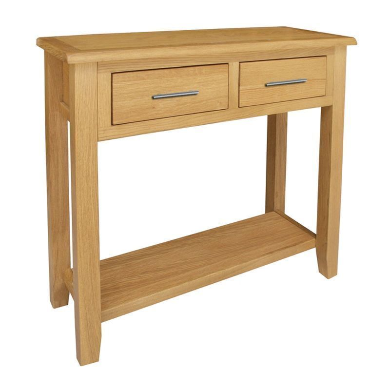 Buy Kansas Waxed Oak Console Table Online At Cherry Lane