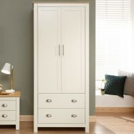 See more information about the Lancaster Wardrobe Cream & Oak 2 Door 2 Drawer