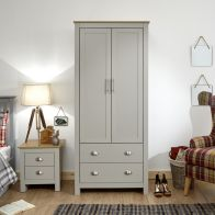 See more information about the Lancaster Wardrobe Grey & Oak 2 Door 2 Drawer