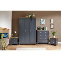 See more information about the Lancaster 4 Piece Bedroom Set Blue