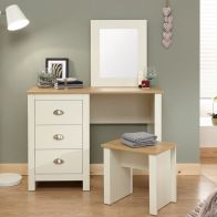See more information about the Lancaster Dressing Table Cream & Oak 3 Drawer