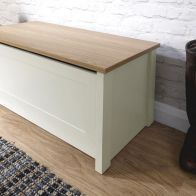 See more information about the Lancaster Storage Ottoman Cream & Oak