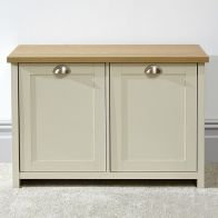 See more information about the Lancaster Shoe Storage Cream & Oak 2 Door