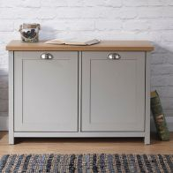 See more information about the Lancaster Shoe Storage Grey & Oak 2 Door