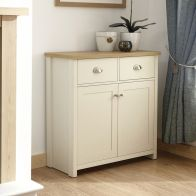 See more information about the Lancaster Sideboard Cream & Oak 2 Door 2 Drawer