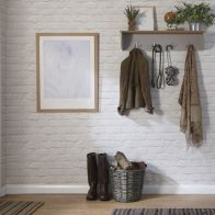 See more information about the Lancaster Wall Rack Grey & Oak 1 Shelf