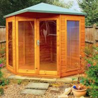 See more information about the Shire Larkspur Shiplap Garden Summerhouse 7' x 7'