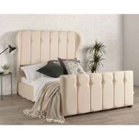 See more information about the Lauren Wing Back Pine Cream 4ft 6in Double Bed Frame