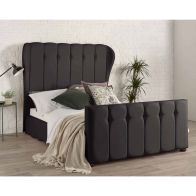 See more information about the Lauren Wing Back Pine Black 4ft 6in Double Bed Frame