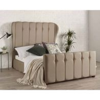 See more information about the Lauren Wing Back Pine Brown 4ft 6in Double Bed Frame