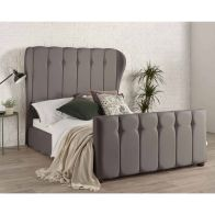 See more information about the Lauren Wing Back Pine Grey 4ft 6in Double Bed Frame