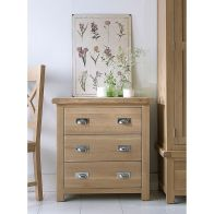 See more information about the Monica Oak 3 Drawer Chest