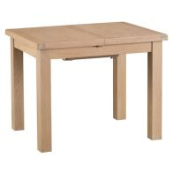 See more information about the Oak Extending Dining Table 4 Seater Natural Lime-washed Oak