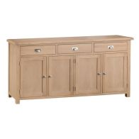 See more information about the Monica Oak 4 Door 3 Drawer Sideboard