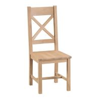 See more information about the Monica Oak Cross Back Dining Chair