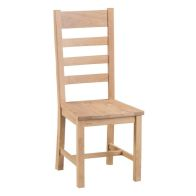 See more information about the Monica Oak Ladder Back Dining Chair