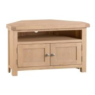 See more information about the Oak TV Unit 2 Doors Natural Lime-Washed Oak with Dovetailed Joints