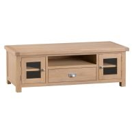 See more information about the Monica Oak 2 Door 1 Drawer Large Tv Cabinet