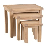 See more information about the Monica Oak 3 Nest Of Tables