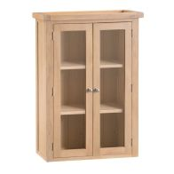 See more information about the Monica Dresser Top Oak 2 Door 3 Shelf