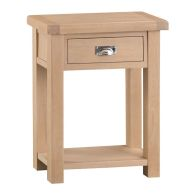 See more information about the Monica Oak 1 Drawer Telephone Table