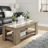 See more information about the Harper Lift Up Coffee Table Black & Cream Style 1 Shelf Walnut Style