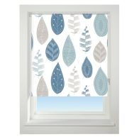 See more information about the Universal 60cm Blue & Grey Leaf Blackout Roller Blind