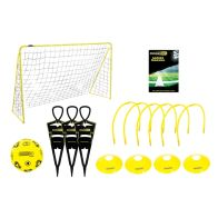 See more information about the Kickmaster Ultimate Football Challenge Set Black & Yellow