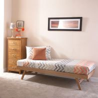 See more information about the Madrid Single Trundle Bed Oak