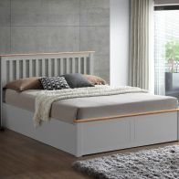 See more information about the Malmo Double Ottoman Bed Grey