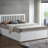 See more information about the Malmo Small Double Ottoman Bed White