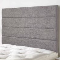 See more information about the Lune Headboard Silver & Velour Fabric Single