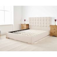 See more information about the Banks Upholstered Pine Cream 3ft Single Bed Frame