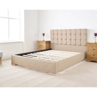See more information about the Banks Upholstered Pine Brown 3ft Single Bed Frame