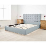 See more information about the Banks Upholstered Pine Blue 3ft Single Bed Frame